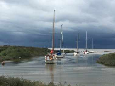 winning photo showing yachts on the River Alt.